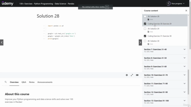 130+ Exercises - Python Programming - Data Science - Pandas