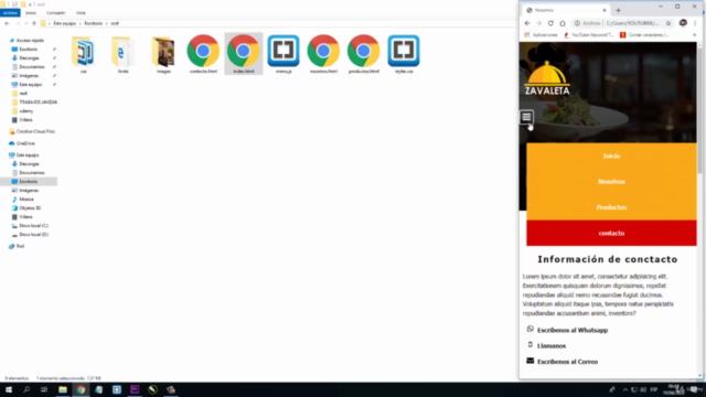 Sitio Web Responsive con html, css y php