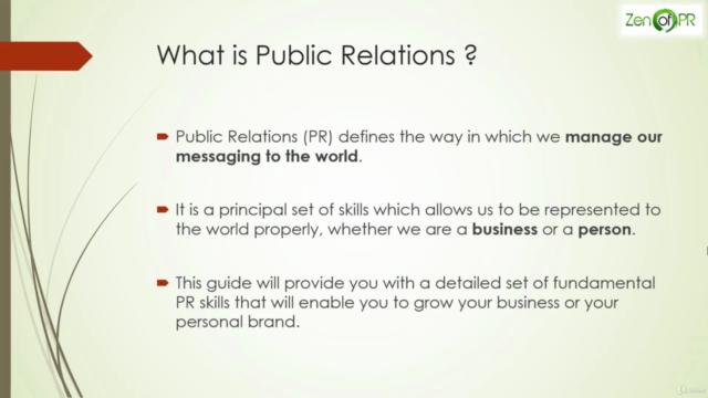 Public Relations Fundamentals Masterclass 2021 Course