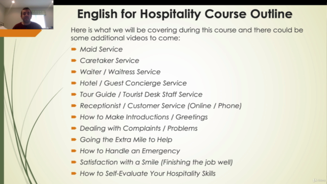 Ben's English for Hospitality Course