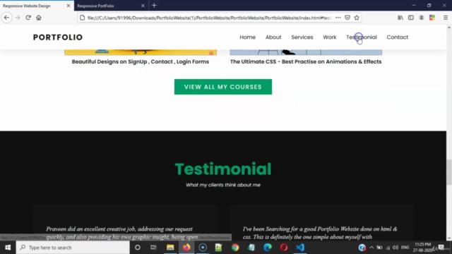 Complete Portfolio Website Step-by-Step [ Web Development ]