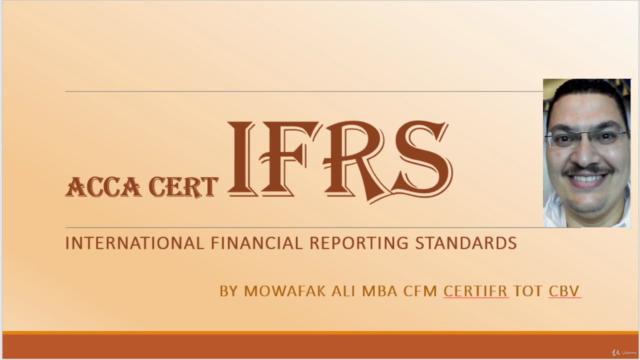 IFRS - ACCA CertIFR M1 معايير التقارير المالية الدولية محدث