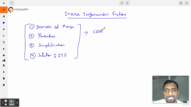 Inverse Trigonometric Functions - Class 12 (XII) Maths -CBSE
