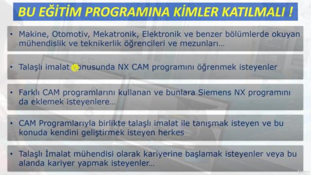Siemens NX CAM - Talaşlı İmalat Eğitimi