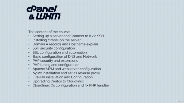 cPanel Complete installation and configuration