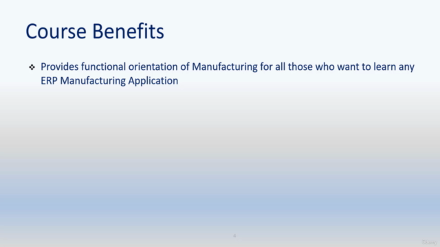 Fundamentals of Manufacturing for an ERP