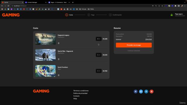 Next JS: Crea tu tienda online completa