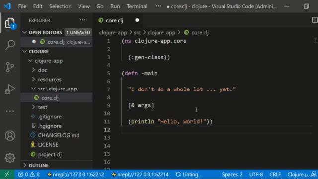 Programação Clojure no Vscode: Fundamentos Módulo III