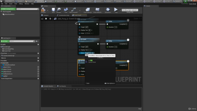 Unreal PONG, Build Your first Unreal Engine Blueprints game