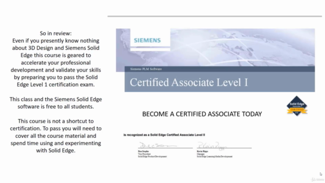Siemens Solid Edge Training & Certification - Part 2 - 2021