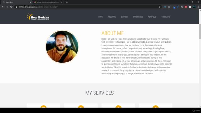 Build Portfolio App   With ReactJS & Bootstrap