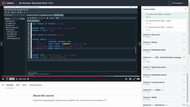 SQL Bootcamp - Bazy danych SQLite - Part II