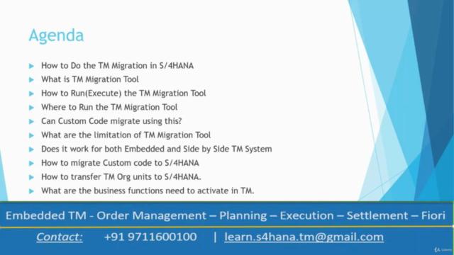 SAP S/4HANA Transportation Management 2020 TM Migration Tool
