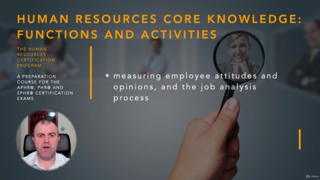 Human Resources Functions and Activities (HRCI - PHR/SPHR)