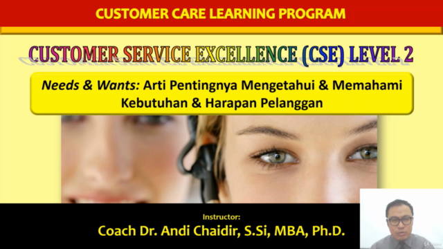 Customer Service Excellence (CSE) Level 2 : Needs & Wants