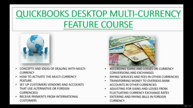 QuickBooks Multi-Currency Feature Complete Mastery