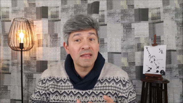 Creative B&W Pen Drawing
