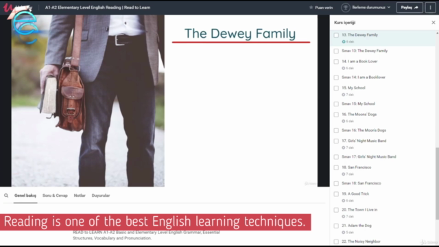 A1-A2 Elementary Level English Reading  Read to Learn