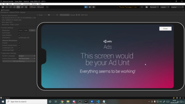 Unity C# Mobile Game Development - Make 3 Games From Scratch