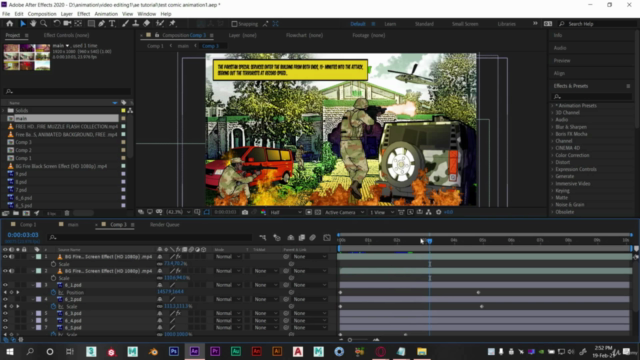 Adobe After Effects : Learn Comic Book Animation
