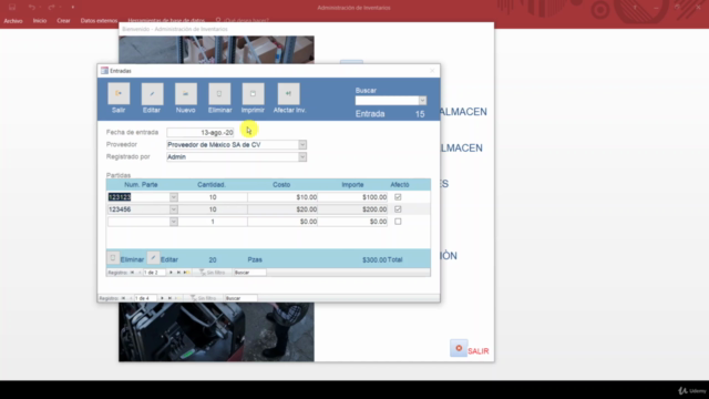 Inventario, Almacenes y Supply Chain aplicado en Access