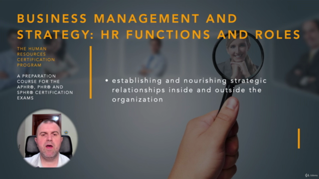 Human Resources Functions and Roles (HRCI - PHR/SPHR)
