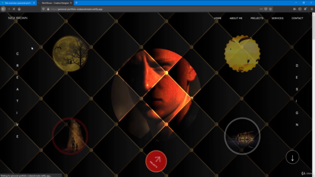 Portfolio Website using HTML, CSS, & JavaScript with Hosting