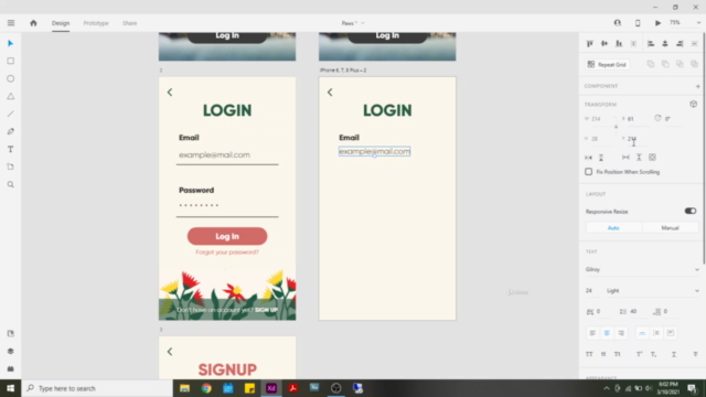 Creating an app in Adobe XD. Step-by-Step