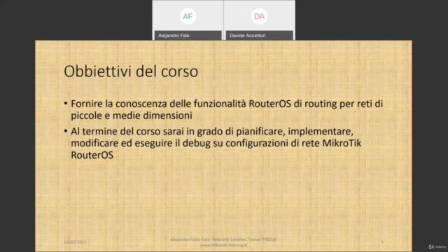 Workshop completo sul Routing tecnologia MikroTik RouterOS