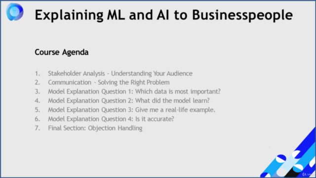 Explaining AI and ML Models to Business People