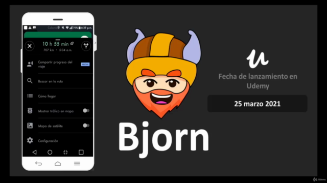 Bjorn App android publicitaria en Xamarin forms y Firebase
