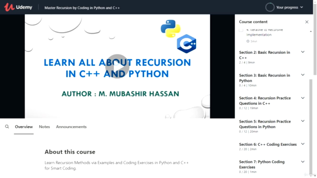 Learn All About Recursion in Python and C++