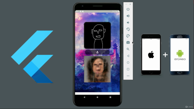 Flutter 2 Android & iOS Drawing to Real Life Generator App
