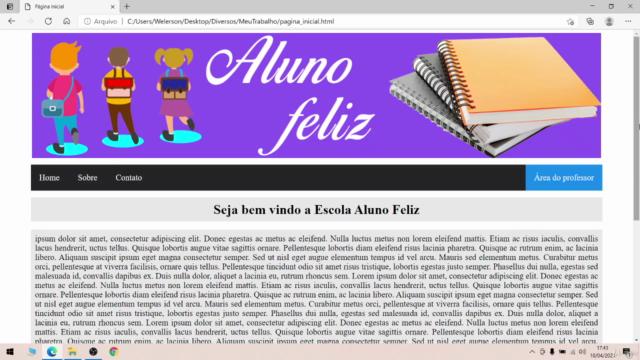 HTML Básico - Melhorando o site