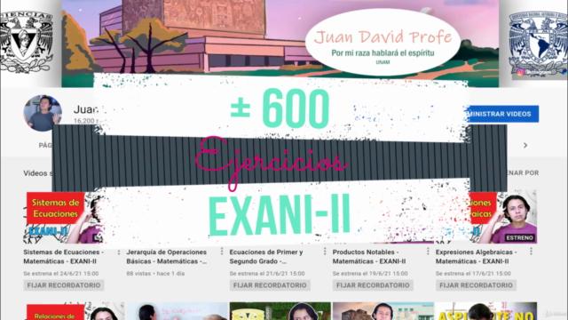 +600 Ejercicios EXANI-II