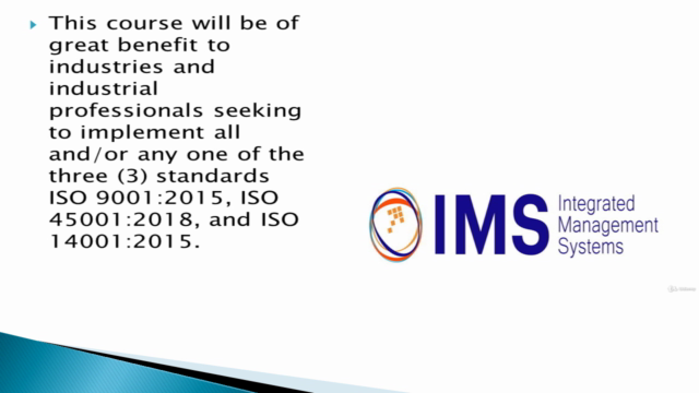 Integrated Management Systems (IMS) Implementation Course
