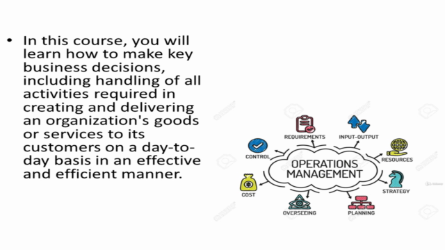 Manufacturing Operations Management Certification Course
