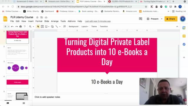 Turning Digital Private Label Products into 10 e-Books a Day