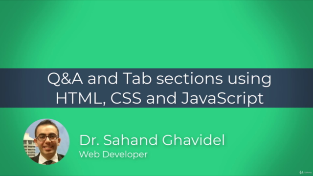Q&A and Tab sections using HTML, CSS and JavaScript (JS)