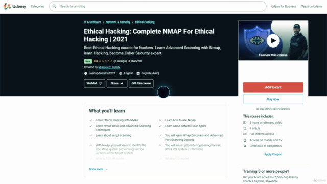 Ethical Hacking: Complete NMAP For Ethical Hacking   2021