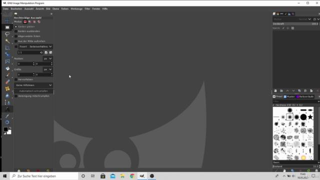 Gimp 2.10.24 Werkzeuge - vom Anfänger zum Profi