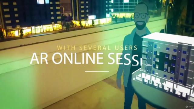 Online multiplayer AR