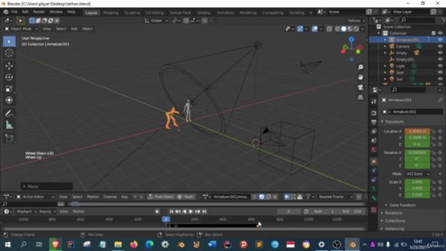 Membuat animasi  karakter anda sendiri di Blender