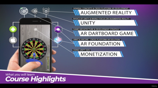 Build a Augmented Reality (AR) App and Game with Unity 2021