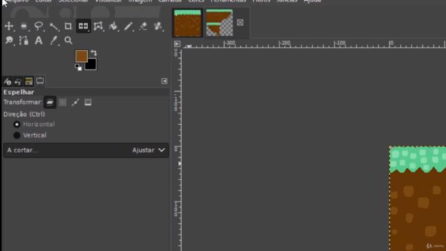 Criação de sprite sheet e tilemap com GIMP