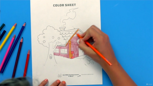 The Drawing and Coloring Activity Course