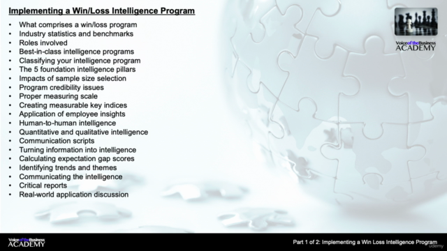 Implementing a Win Loss Intelligence Program