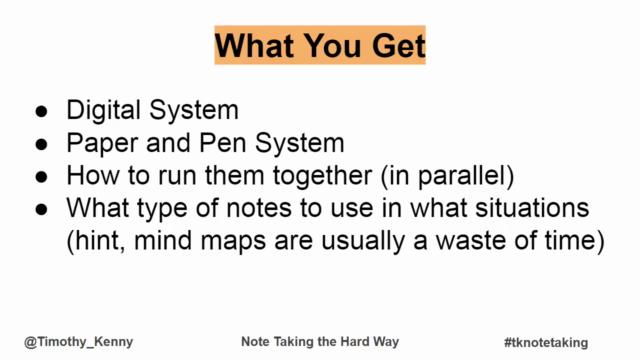 Learning the Hard Way Vol 4 : Notetaking The Hard Way