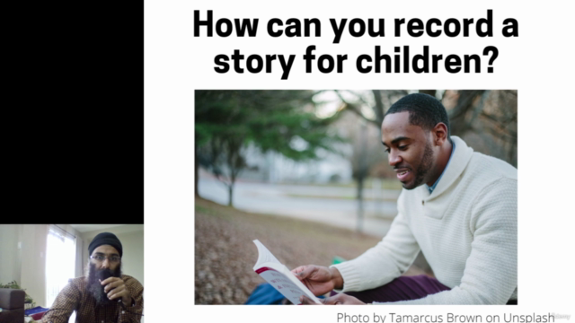 Teaching children with stories that you read aloud on video