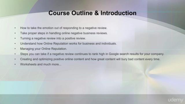Online Reputation Management: Negative Business Reviews